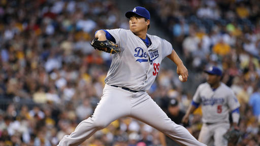 Ryu, Dodgers end Pirates' home win streak, 5-2