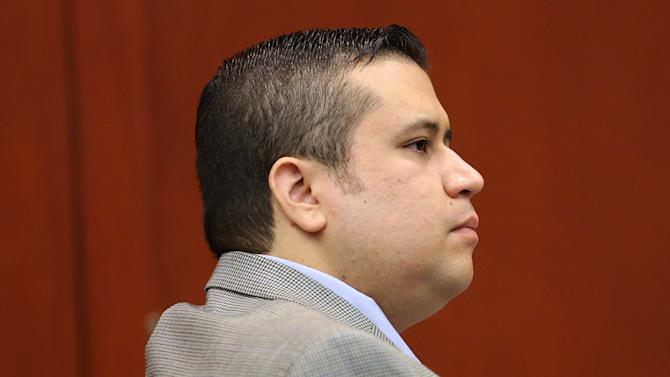 George Zimmerman listens to a prospective juror in Seminole circuit court during his trial, in Sanford, Fla., Wednesday, June 12, 2013. Zimmerman has been charged with second-degree murder for the 2012 shooting death of Trayvon Martin.(AP Photo/Orlando Sentinel, Joe Burbank, Pool)