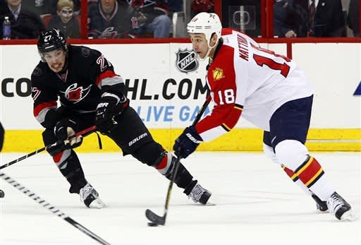 Jokinen has 3 points in Canes' win over Panthers