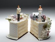 split wedding cake topper