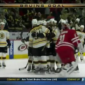 David Pastrnak Goal on Anton Khudobin (04:23/OT)