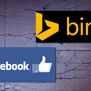FACEBOOK DUMPS BING
