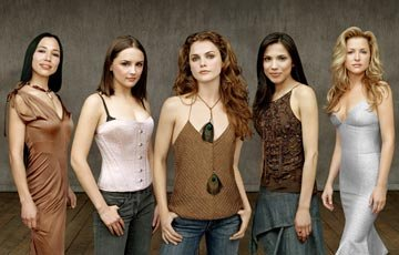 Irene Bedard, Rachael Leigh Cook, Keri Russell, Tonantzin Carmelo and Jessica Capshaw TNT's Into the West