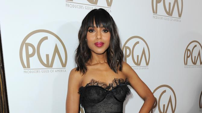 IMAGE DISTRIBUTED FOR THE PRODUCERS GUILD - Kerry Washington arrives at the 24th Annual Producers Guild (PGA) Awards at the Beverly Hilton Hotel on Saturday Jan. 26, 2013, in Beverly Hills, Calif. (Photo by Jordan Strauss/Invision for The Producers Guild/AP Images)