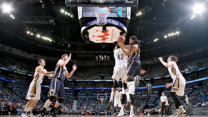 West, Hill each score 17 and Pacers pound Pelicans, 106-93