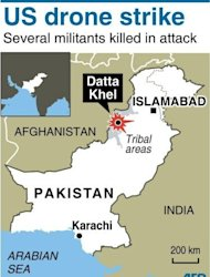 A US drone strike on Saturday killed at least three Islamic militants in Pakistan's restive tribal region near the Afghan border, security officials said
