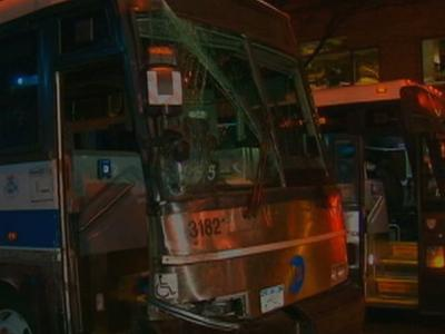 NYC Bus Crashes, Driver Says He Fainted