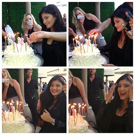 Kylie Jenner Celebrates 16th Birthday With Family, Jaden Smith