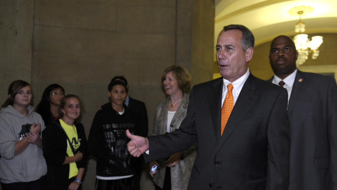 AP sources: Boehner, top GOP to vote for deal
