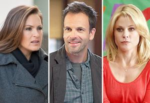 "Mariska Hargitay, Jonny Lee Miller, Julie Bowen | Photo Credits: Michael Parmelee/NBC; Jojo Whilden/CBS; Peter ""Hopper"" Stone/ABC."