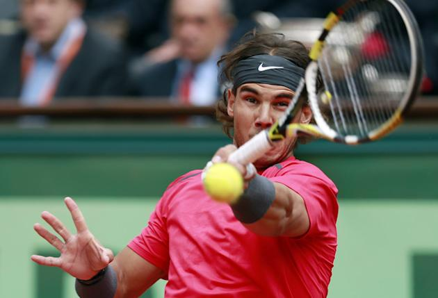 Spain's Rafael Nadal Hits AFP/Getty Images