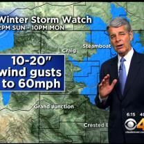Friday Evening Forecast:  Winter Storm Watch Out For The Mountains