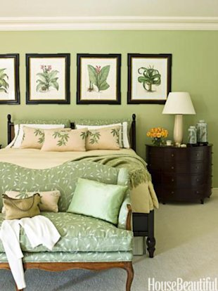 Traditional Green Bedroom