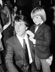 FILE - In this December 5, 1979 file photo, actor Dustin Hoffman, left, and supporting actor, Justin Henry, 6, are seen at the premiere of their motion picture, &quot;Kramer vs. Kramer,&quot; in Los Angles, Calif. Henry, who remains the youngest-ever Oscar nominee in any category for 1979&#39;s Kramer vs. Kramer, said that in some ways it&#39;s a purer form of acting at this age. (AP Photo, File)