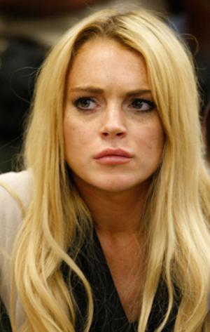 Lindsay Lohan attending her probation hearing in July 2010