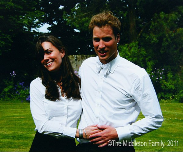 Kate Middleton and Prince William on the day they graduated from St Andrews University. Picture by: The Middleton Family / Splash News