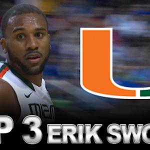 Miami's Erik Swoope Top 3 Plays In ACC Tournament vs Virginia Tech