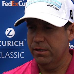 Erik Compton interview after Round 1 of the Zurich Classic