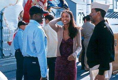 Derek Luke , Joy Bryant and Denzel Washington in Fox Searchlight's Antwone Fisher