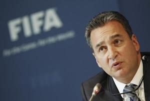 Garcia, Chairman of the investigatory chamber of the FIFA Ethics Committee attends a news conference at the at the Home of FIFA in Zurich