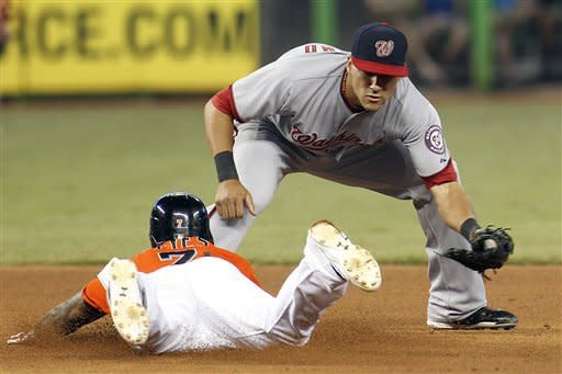 Little plays add up as Marlins beat Nat 5-3