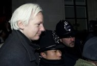 Wikileaks founder Julian Assange leaves the Supreme Court in central London in February 2012. Assange embarked on a marathon round of court battles, but finally exhausted all his options under British law in June when the Supreme Court overturned his appeal against extradition to Sweden