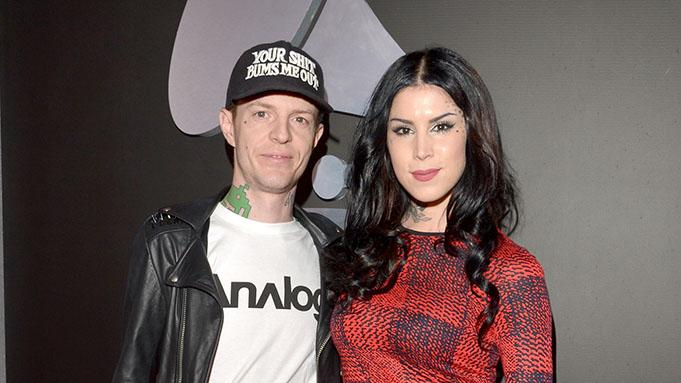 The 55th Annual GRAMMY Awards - Red Carpet: deadmau5 and Kat Von D