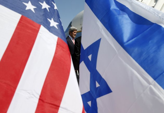 U.S. Secretary of State John Kerry arrives in Tel Aviv, Israel
