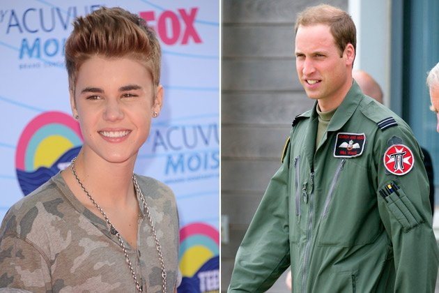 Justin Bieber l&#xe4;stert &#xfc;ber Prinz William! (Bilder: Getty Images)