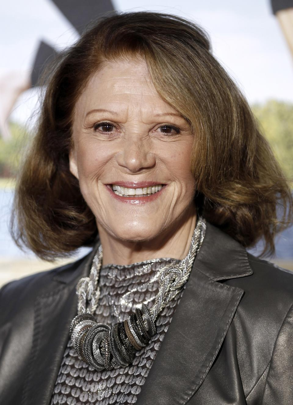 "FILE - In this Feb. 16, 2012 file photo, actress Linda Lavin arrives at the premiere of her film ""Wanderlust"" in Los Angeles. Lavin will star in the upcoming musical ""Prince of Broadway,""  opening in November. (AP Photo/Matt Sayles, file)"