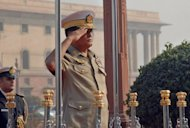 Myanmar's parliament on Wednesday appointed the navy chief, Admiral Nyan Tun (pictured during a visit to New Delhi in 2010) to replace a regime hardliner as one of the country's vice presidents, in a move seen as strengthening the country's reformers