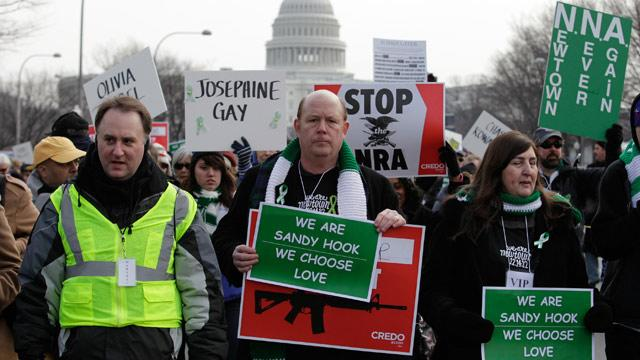 Newtown Victims' Families Join Gun-Control Activists on DC March