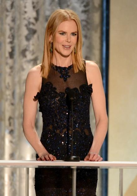 Nicole Kidman speaks onstage during the 19th Annual Screen Actors Guild Awards held at The Shrine Auditorium on January 27, 2013 (Photo by Getty Images)  --