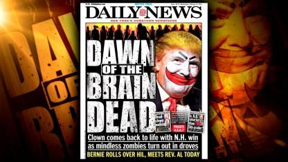 Trump Slams 'Worthless' New York Daily News After It Depicts Him as a Clown