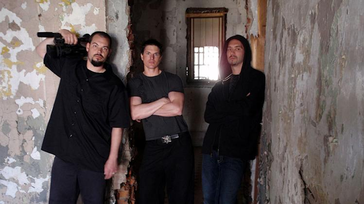 "Aaron Goodwin, Zak Bagans, and Nick Groff in ""Ghost Adventures."""