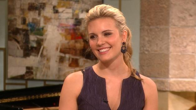 Maggie Grace stops by Access Hollywood Live on October 2, 2012 -- Access Hollywood