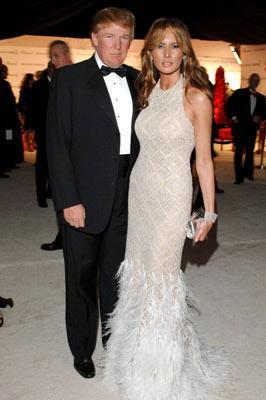 Donald Trump with Melania Trump 13th Annual Elton John AIDS Foundation Oscar Party West Hollywood, CA - 2/27/05 Donald Trump