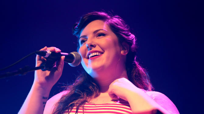 Singer-songwriter Mary Lambert performs in concert at the Electric Factory on Wednesday, May 27, 2015, in Philadelphia. (Photo by Owen Sweeney/Invision/AP)