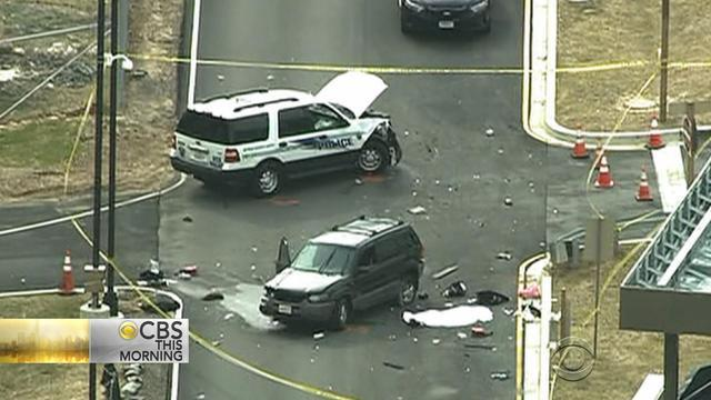 Men dressed as women rammed police SUV before deadly NSA gate shooting