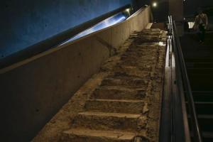 The 'Survivors' Stairs' are seen in the National September 11 Memorial & Museum during a media preview in New York