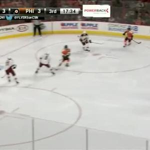 Mike Smith Save on Claude Giroux (02:28/3rd)