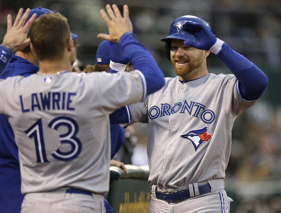 Griffin gets plenty of support to beat Blue Jays