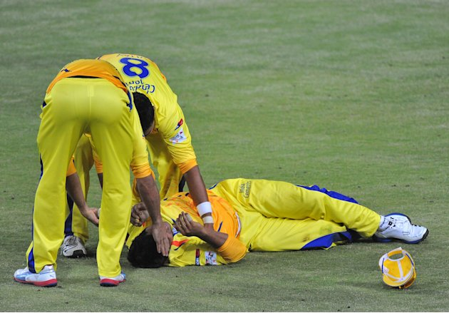 CLT20 2012 Chennai Super Kings v Mumbai Indians