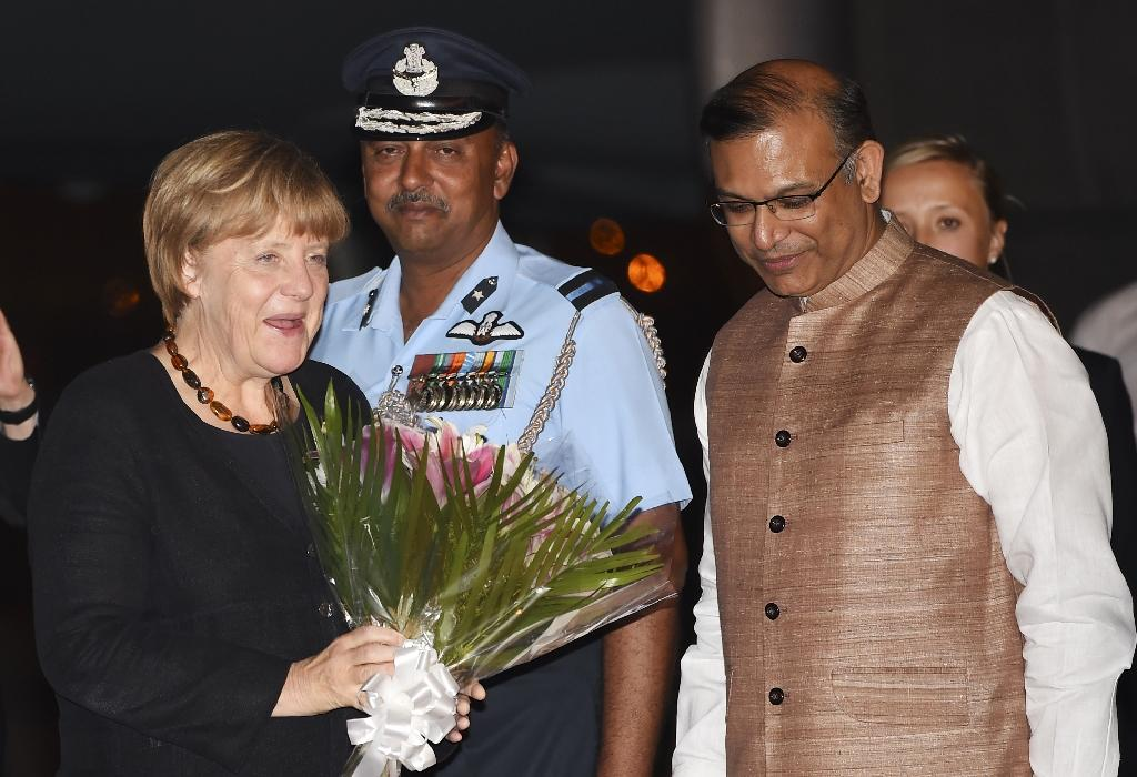 Angela Merkel in India with trade topping the agenda