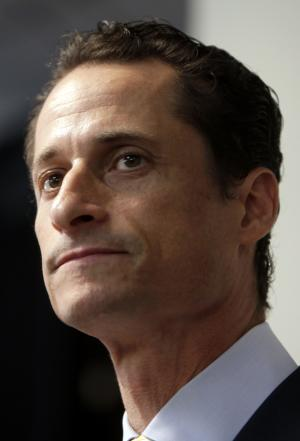 FILE - In a June 16, 2011 file photo former Rep. Anthony Weiner, D-N.Y., speaks during a news conference in New York, to say he's weighing a run for New York City mayor. Wiener and former South Carolina Gov. Mark Sanford are running on redemption. Based on the comebacks attempted by plenty of other politicians, athletes and celebrities felled by scandal, the strategy just may work. To a certain degree, it already has: Both men are back in the national political spotlight just a few short years after their dalliances led many observers to declare their careers over. (AP Photo/Seth Wenig, File)