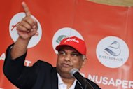 AirAsia boss Tony Fernandes (pictured in July) has vowed to give Indonesian rival Lion Air &quot;a real run for their money&quot; after it announced plans for a new low-cost carrier, a report said