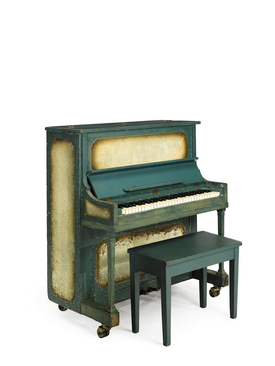 "This undated photo provided by Sotheby's shows the piano used in the movie ""Casablanca.""  The instrument is going up for sale at Sotheby's in New York on Dec. 14, 2012. The auction house estimates it could fetch up to $1.2 million. (AP Photo/Sotheby's)"