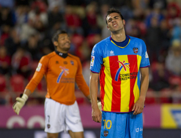 Levante's Midfielder Vicente Iborra De La Fuente (R) Reacts AFP/Getty Images