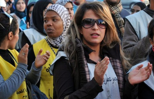 "Young unemployed graduates demonstrate in Rabat in 2011. The World Bank on Friday described the problem of youth unemployment in Morocco as ""very serious,"" with similarities to other countries in the region where youth-led protests brought about regime change"