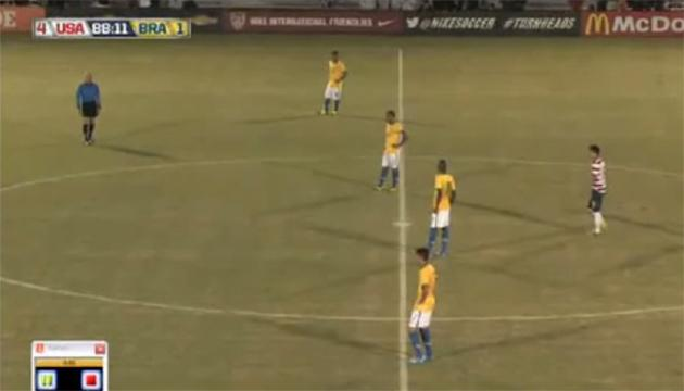 Brazil's U17s simply give up and stop playing against USA